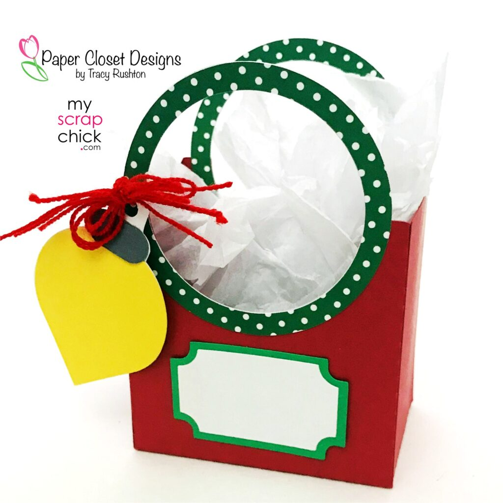 Christmas Box with Round Handle