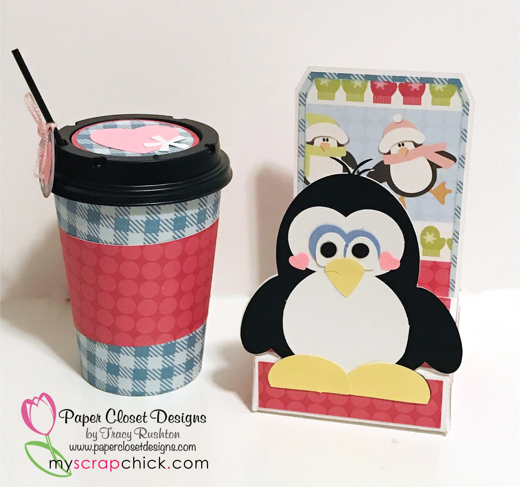 12 oz Penguin Tote with wrap
