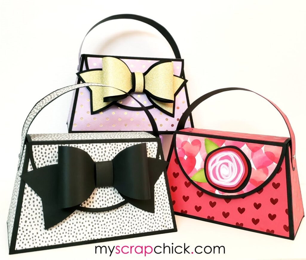 Paper Purse with Big 3D Bow - SVG