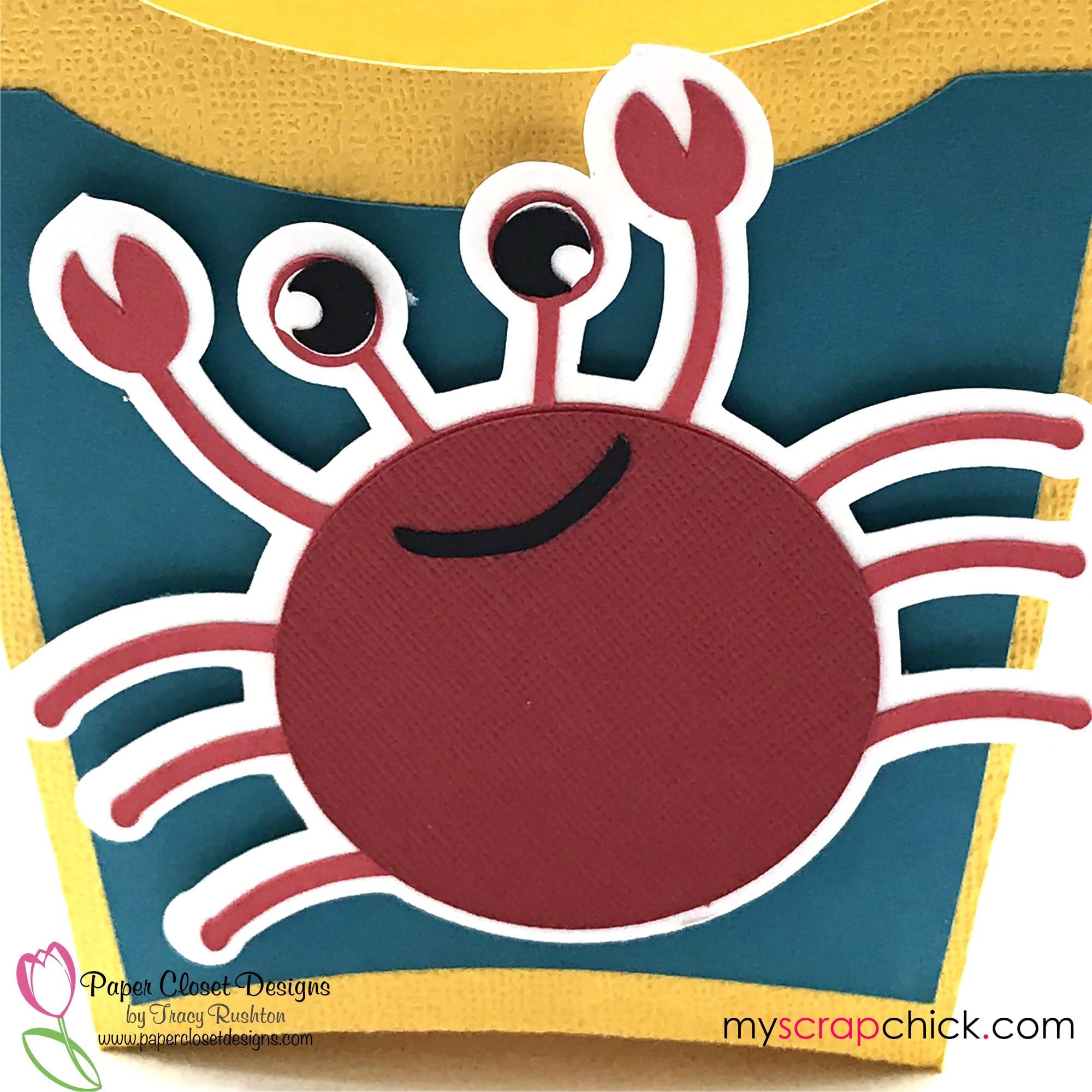 Beach Bag with Crab 3D SVG, Cricut, Silhouette Cameo Files, DXF, GSD, PDF_up Close