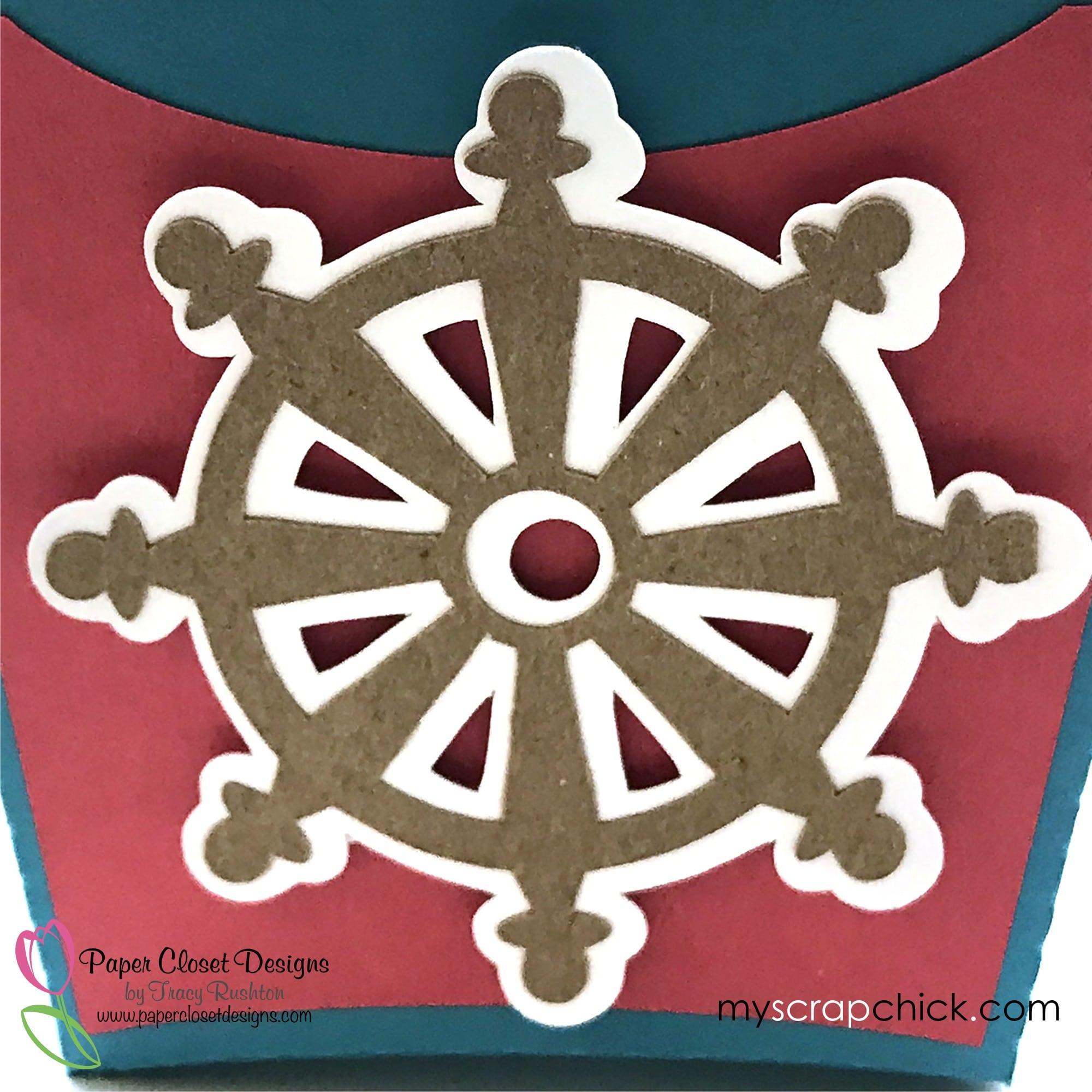 Beach Bag with Ships Wheel 4