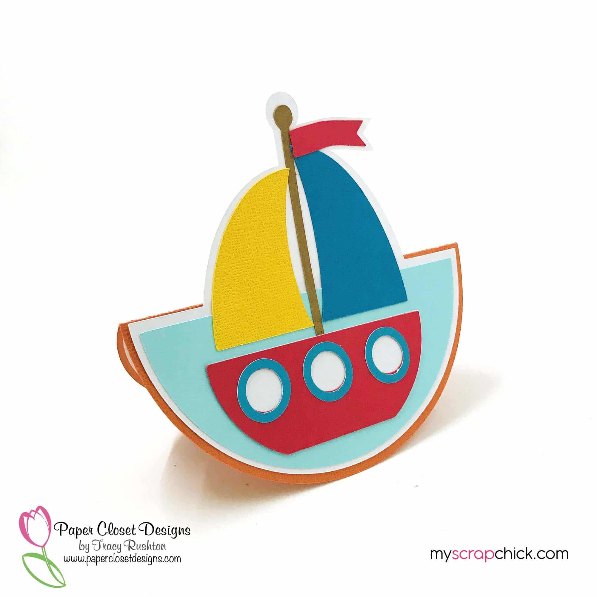 Sail Boat Rocker Card 2