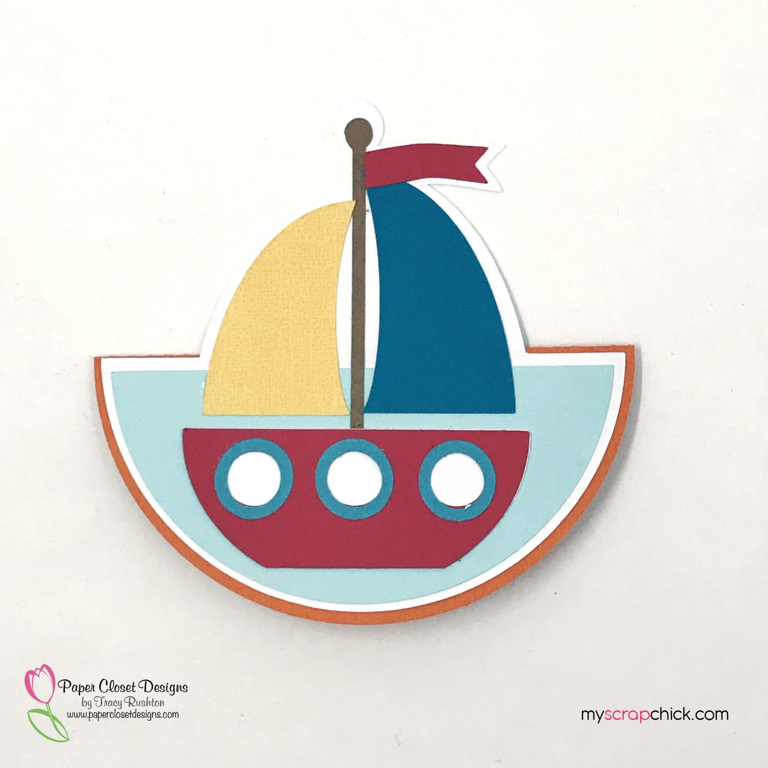 Sail Boat Rocker Card 3
