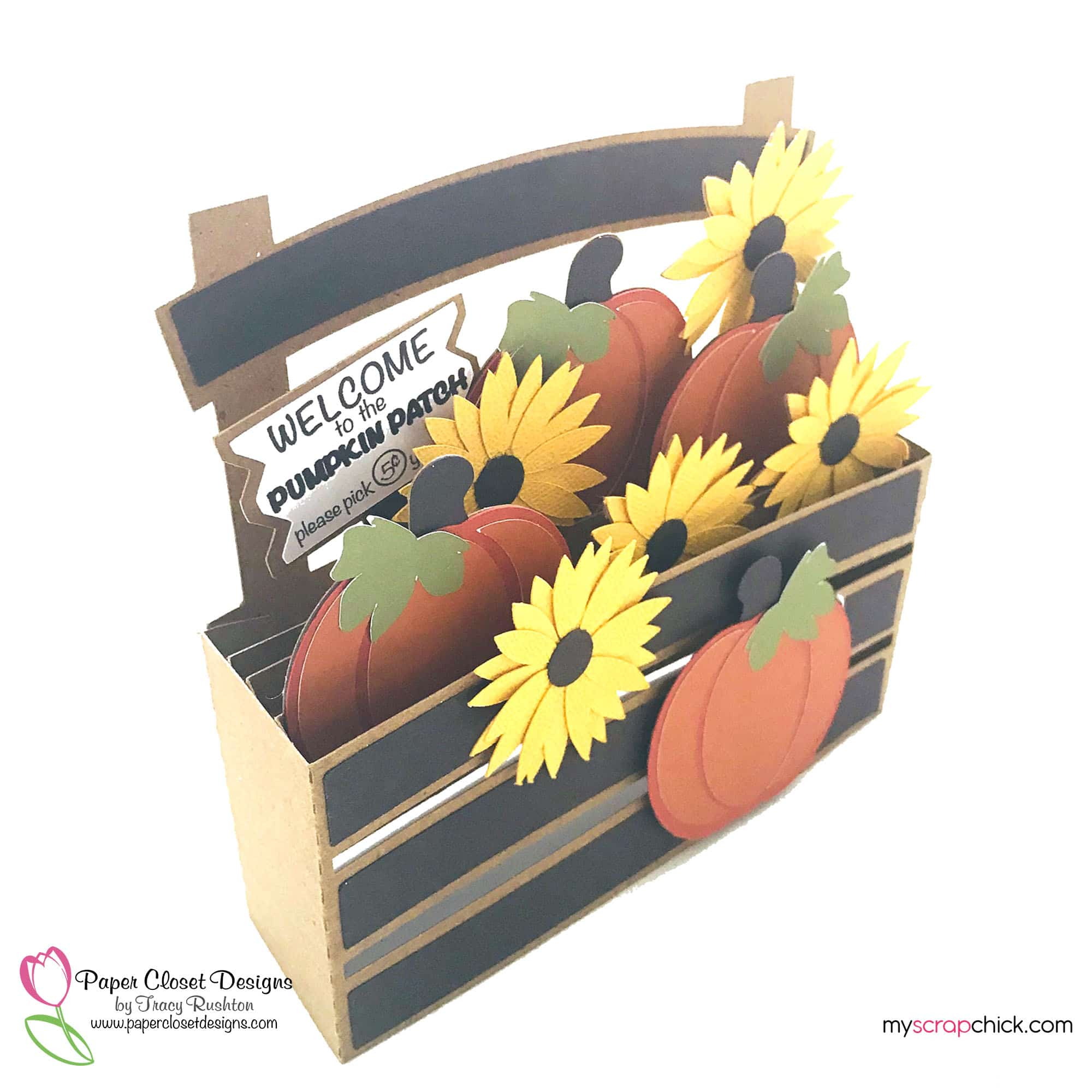 Pumpkin patch Box Card side view
