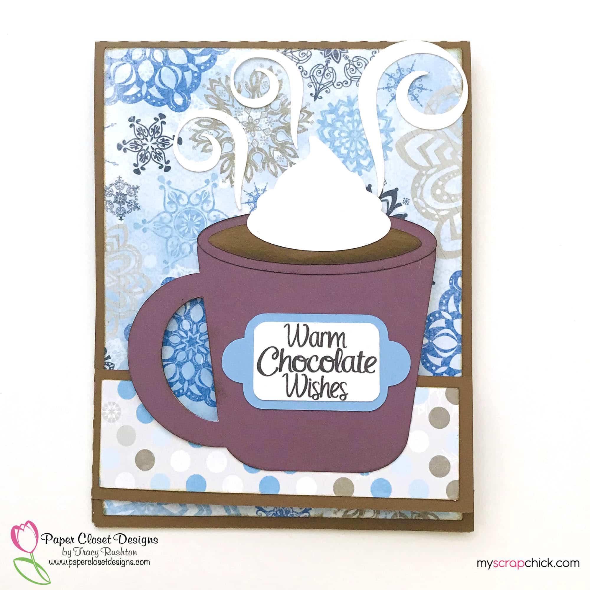 Warm Chocolate Wishes Double Fold Mug Card