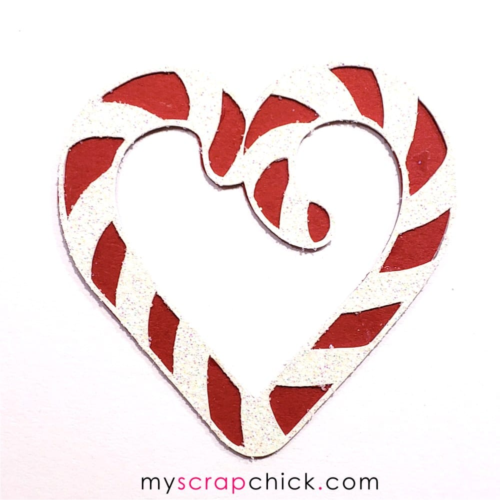 Candy Cane Heart 1