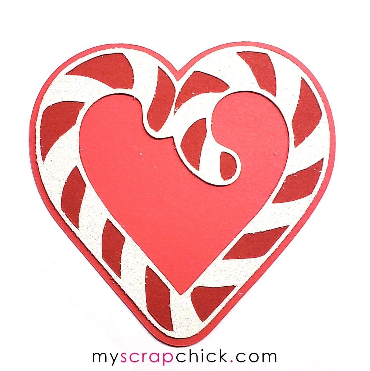 Candy Cane Heart 2