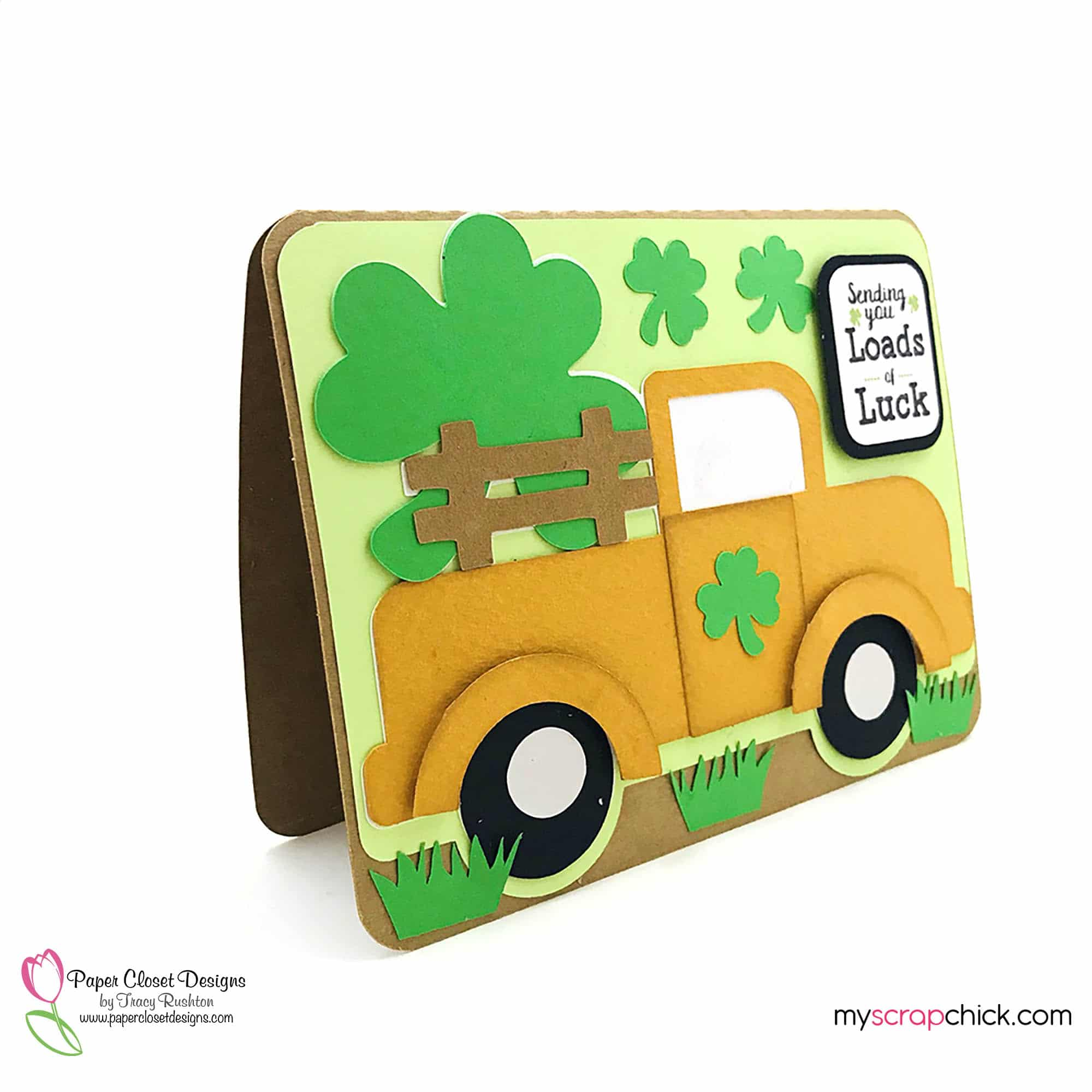 Truck With Shamrock Card 2