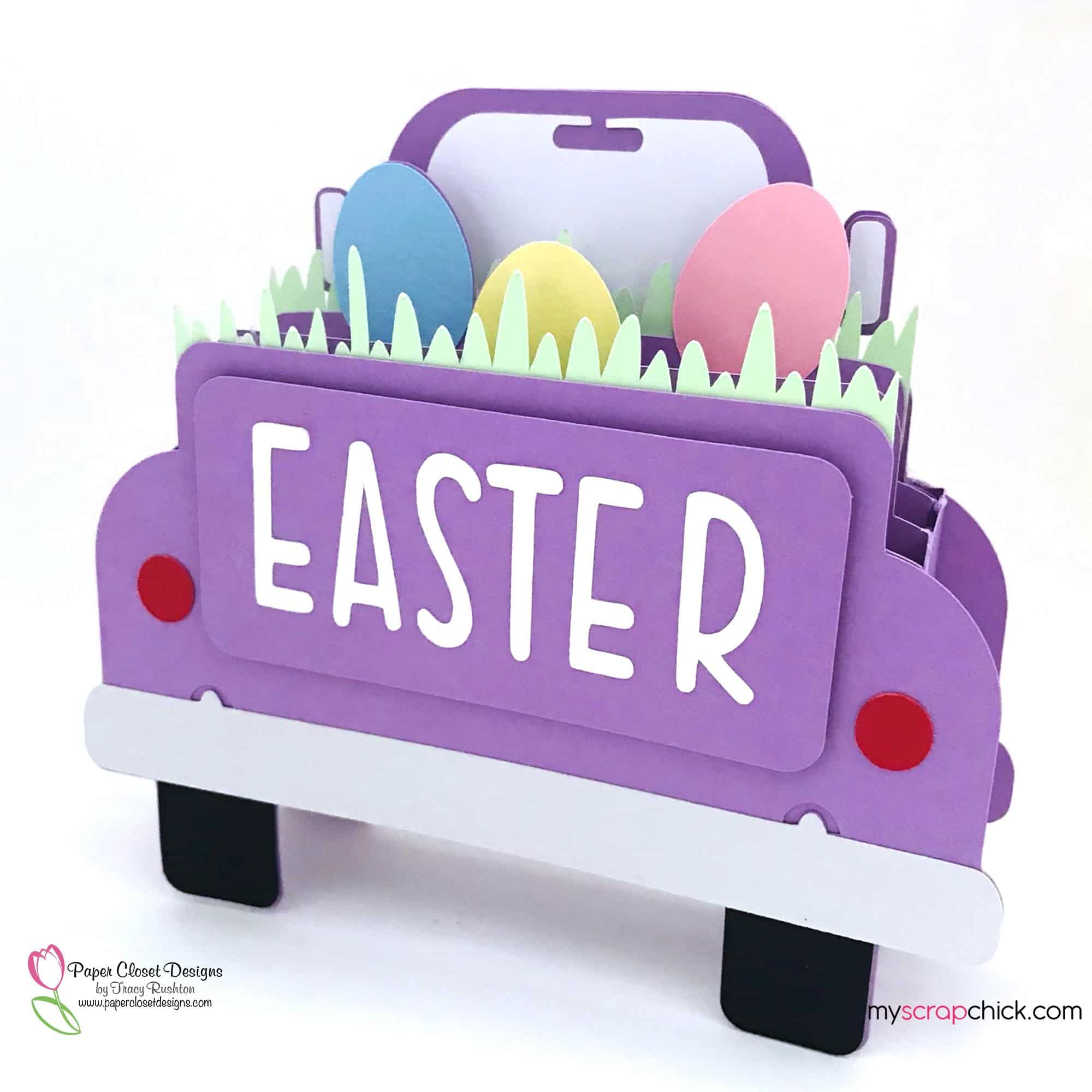 Easter Truck Box Card Side