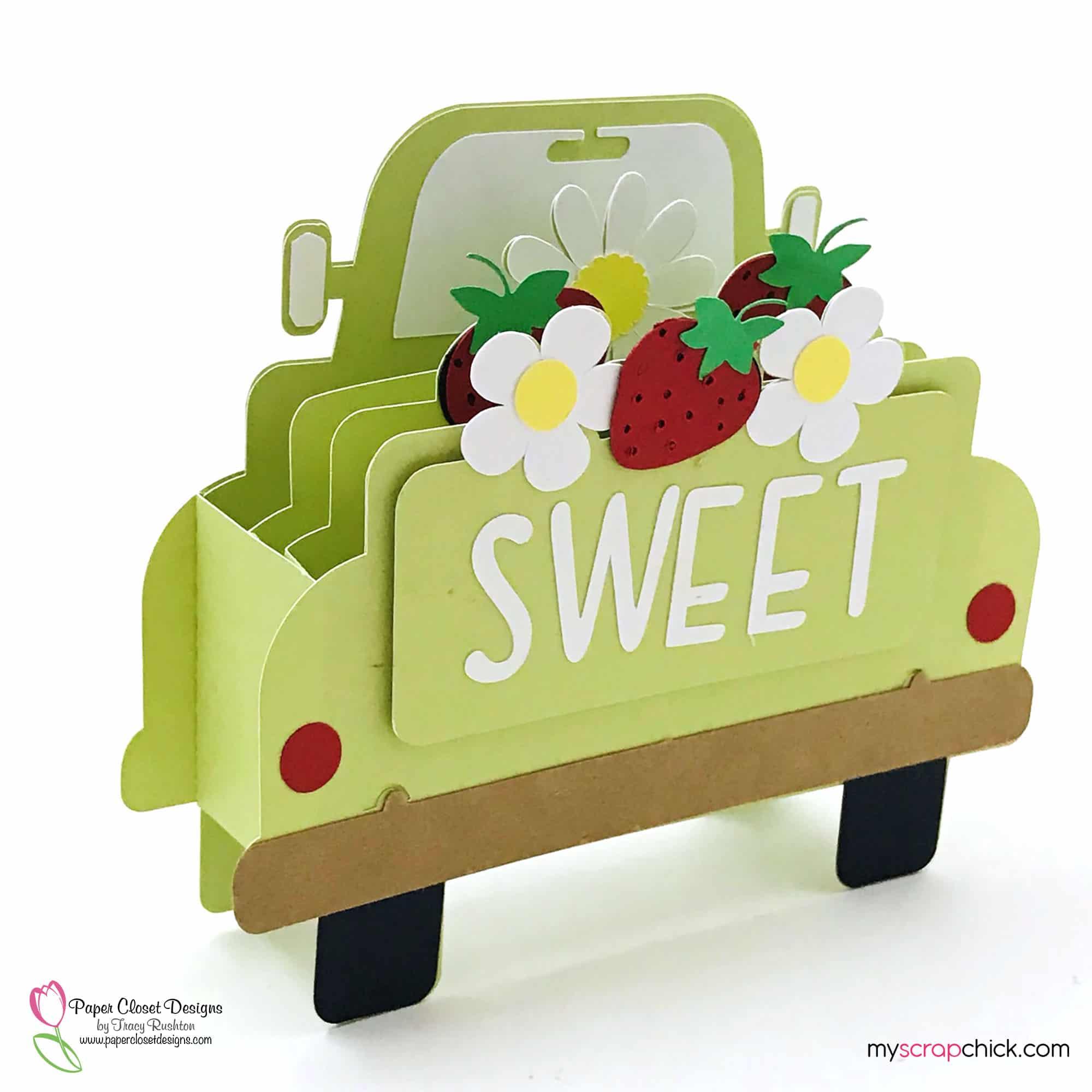 Strawberry Turck Box Card Side