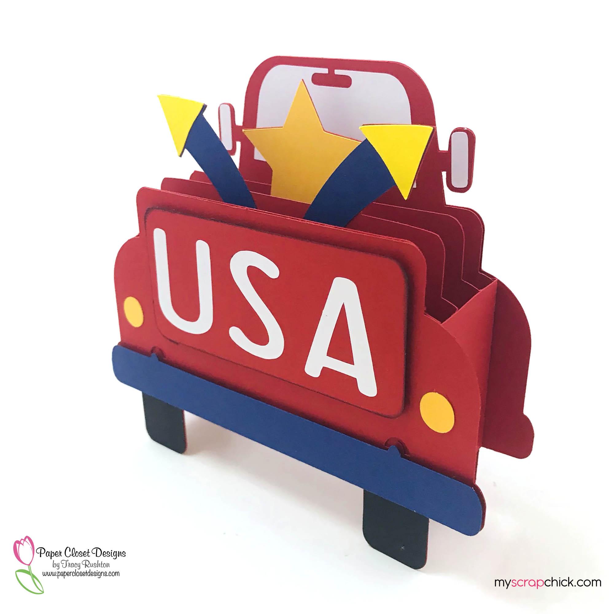 USA Truck Box Card Side
