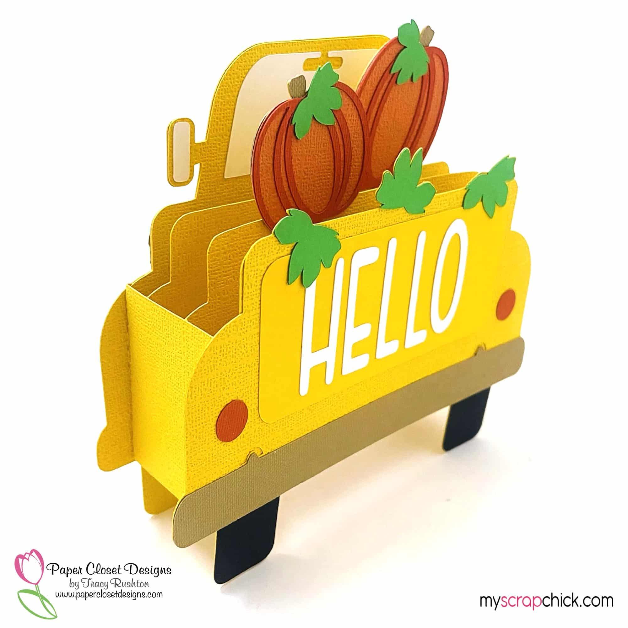 Hello Pumpkin Truck Box Card1