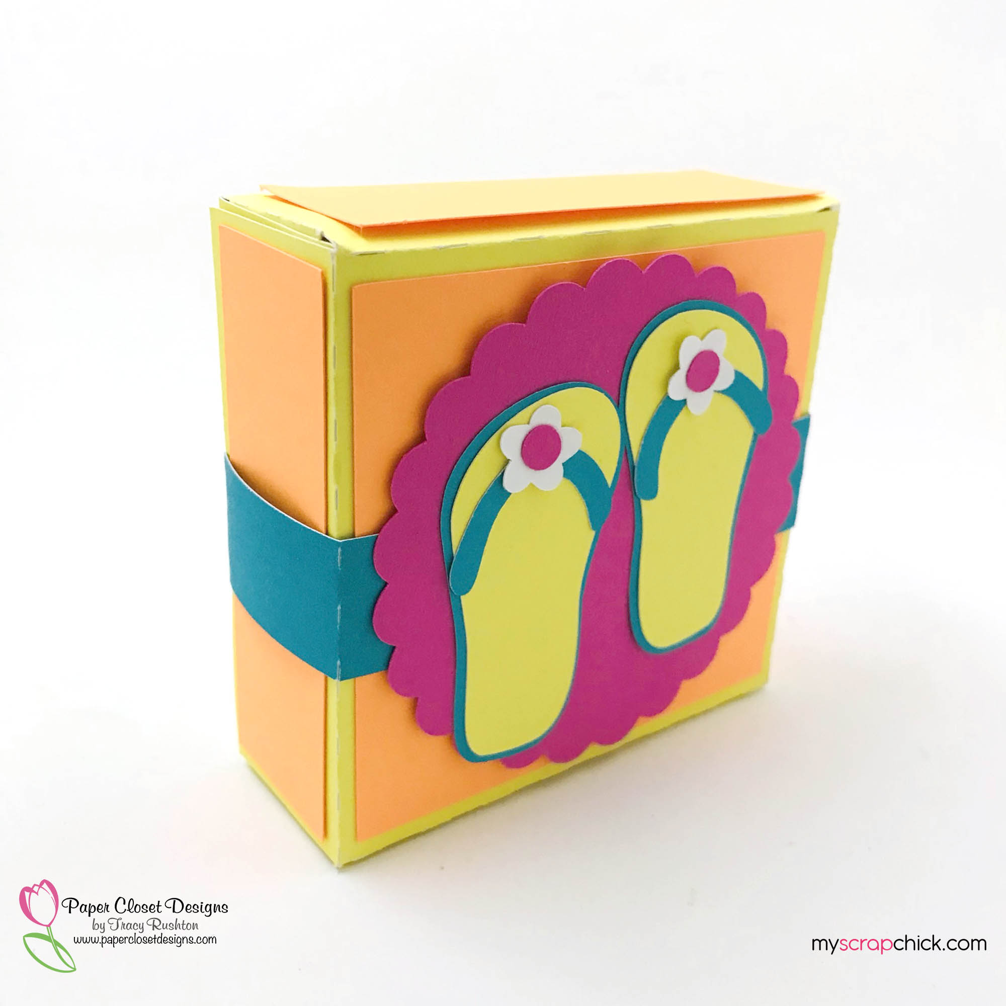 Hinged Box with Flip Flops 2