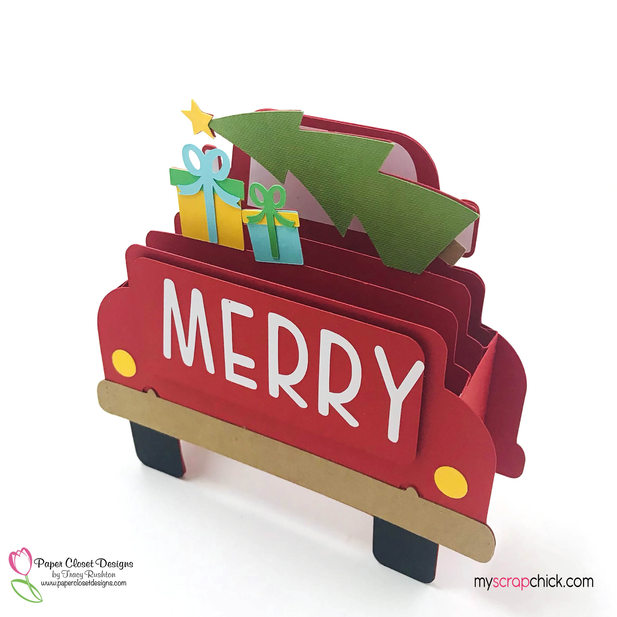 Merry Truck Box Card 2