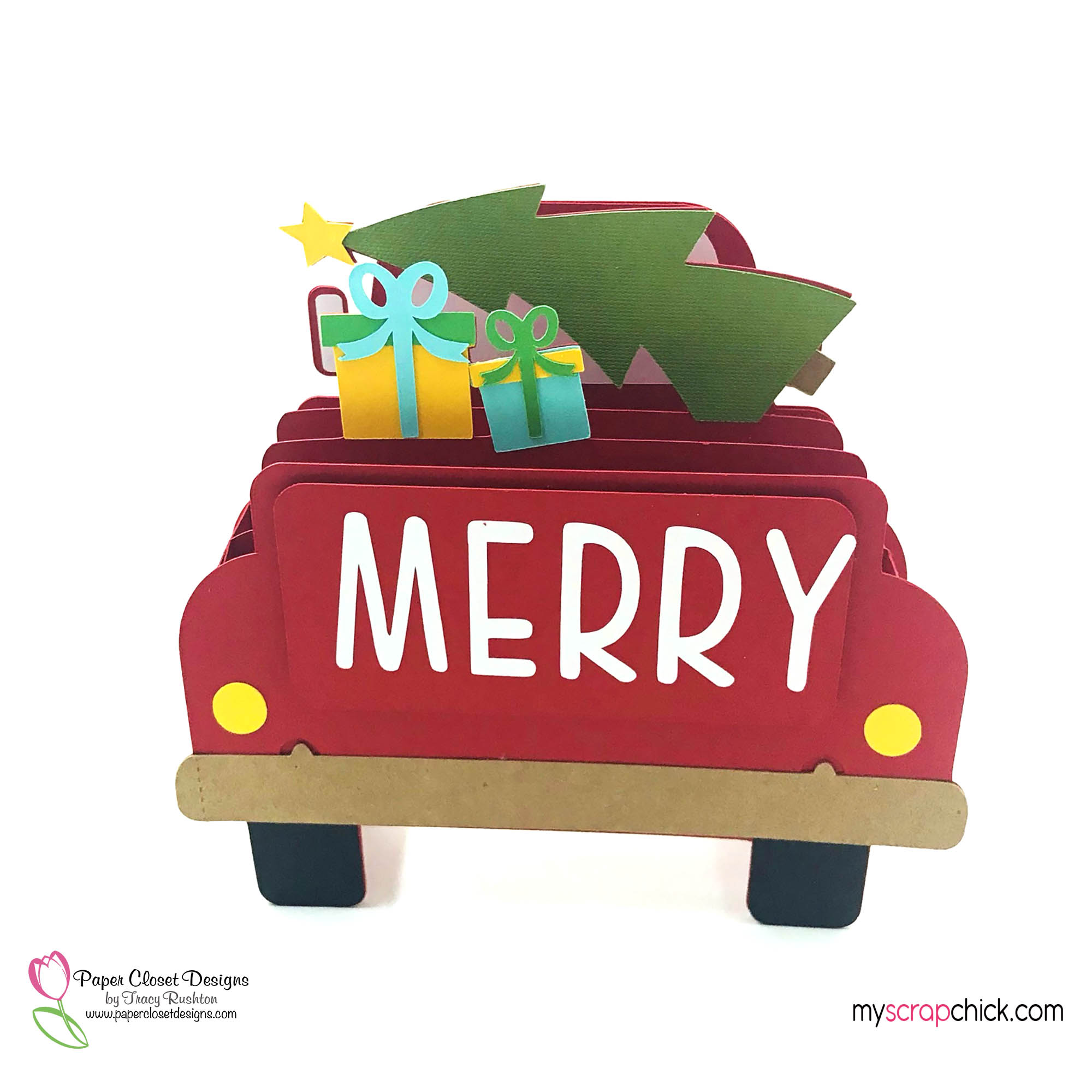Merry Truck Box Card
