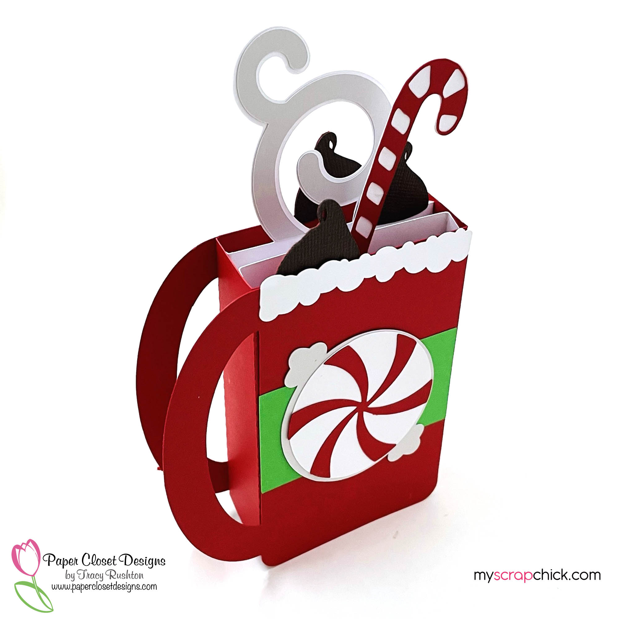 Peppermint Christmas Mug Box Side