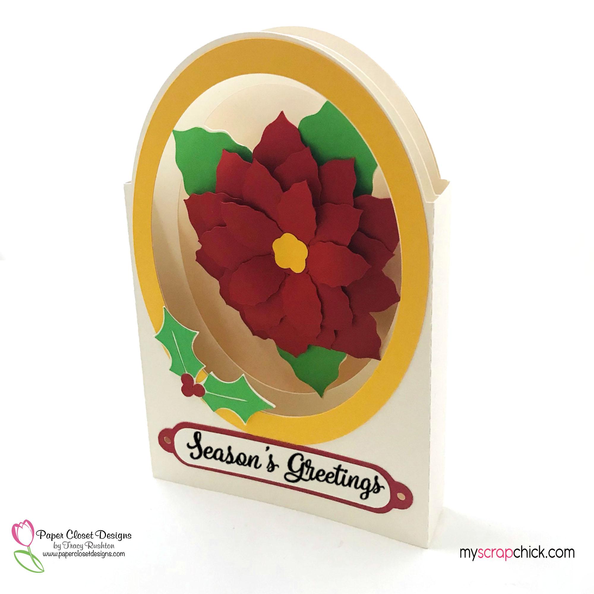 Poinsettia Tunnel Card 1