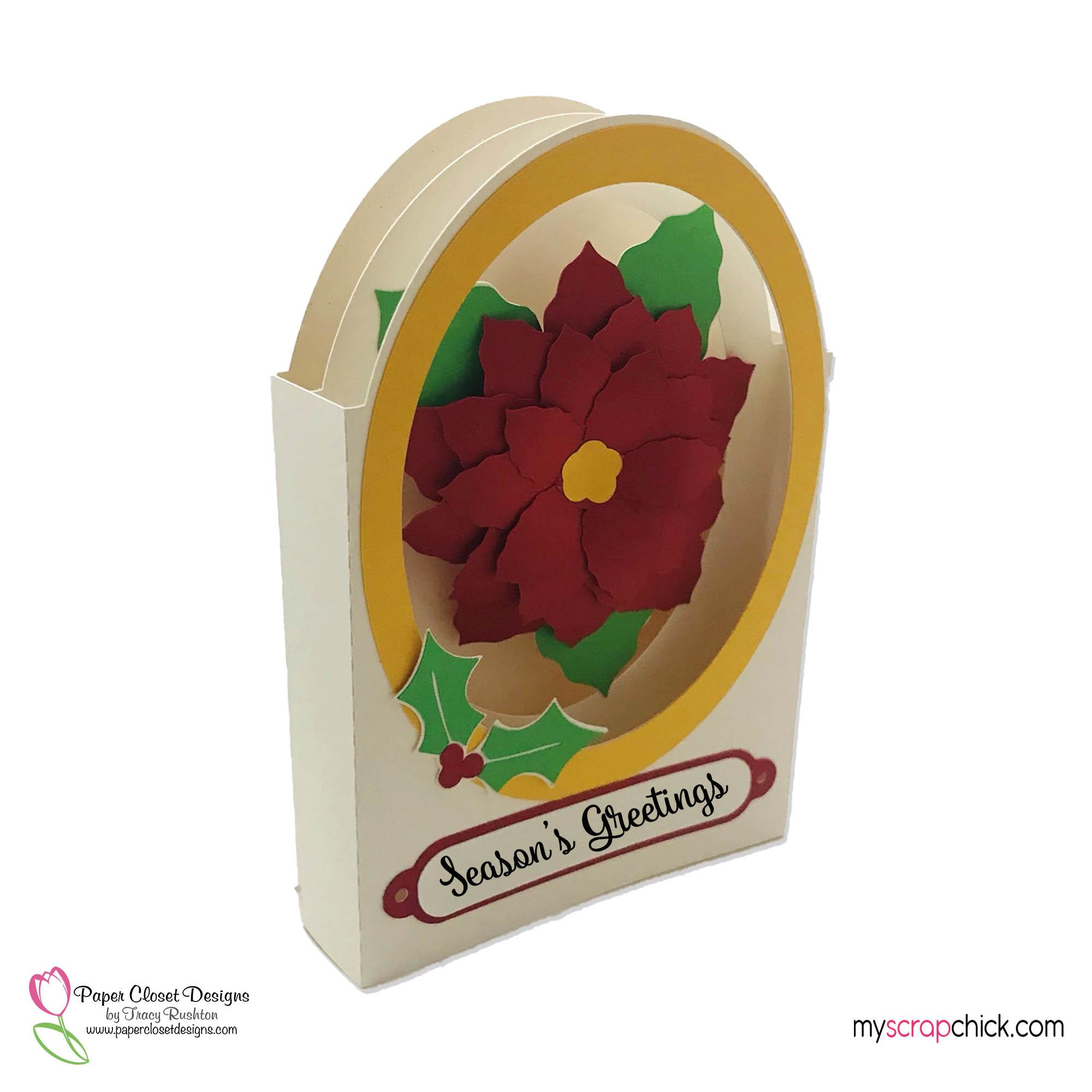 Poinsettia Tunnel Card 2