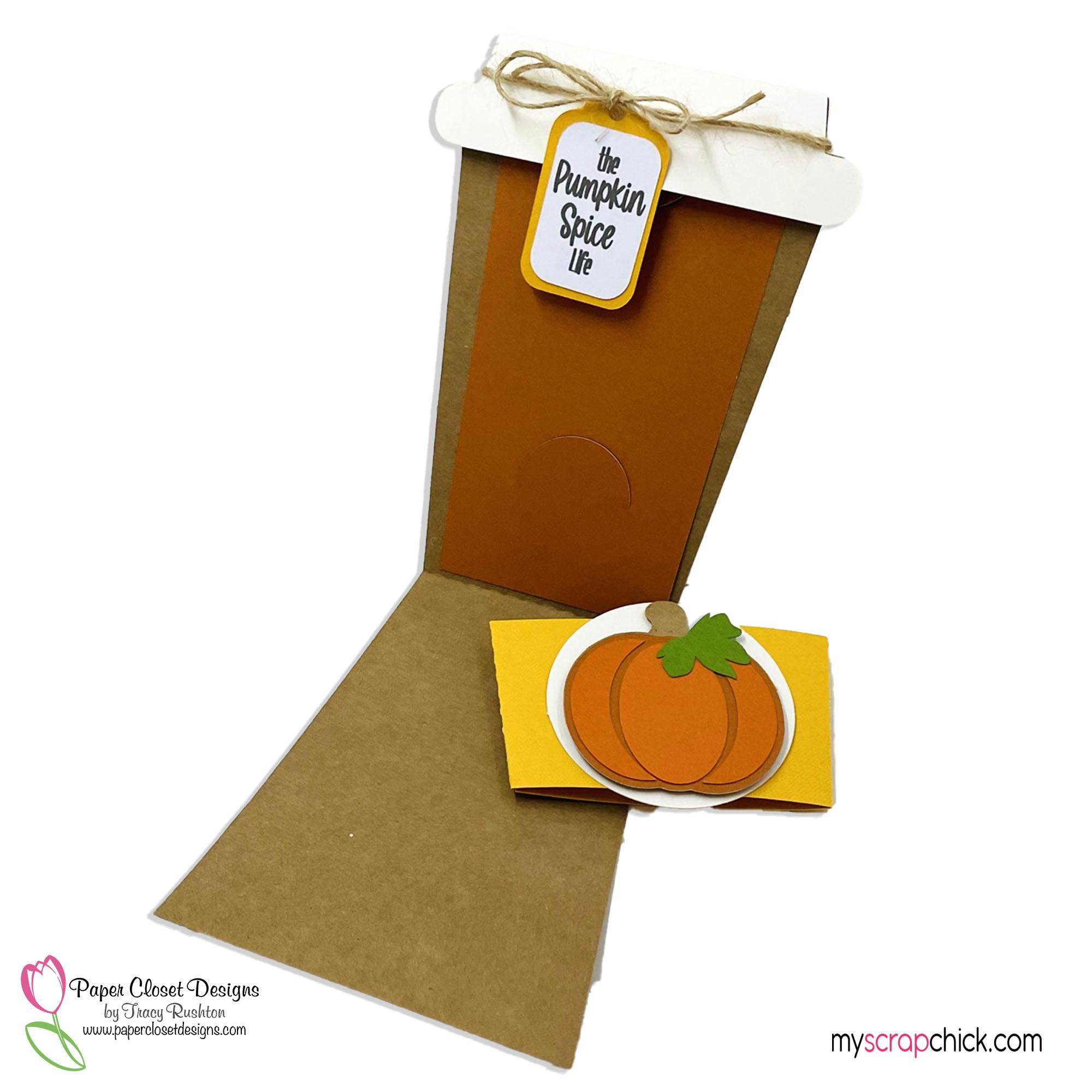 Pumpkin Mug and Sleeve Card blank