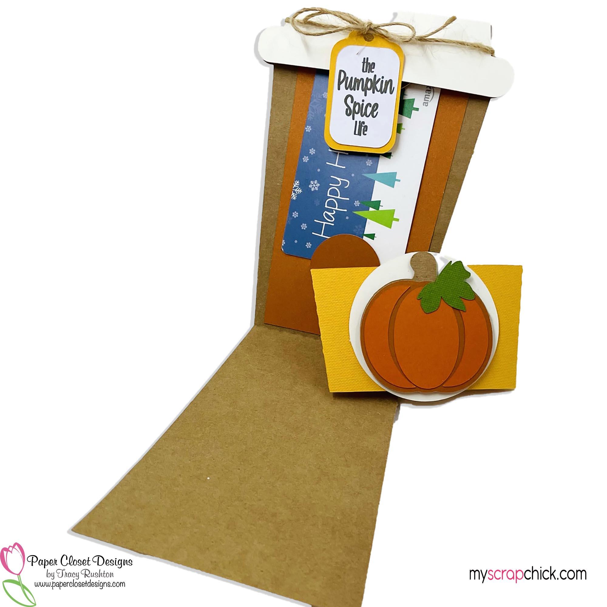 Pumpkin Mug and Sleeve Card open