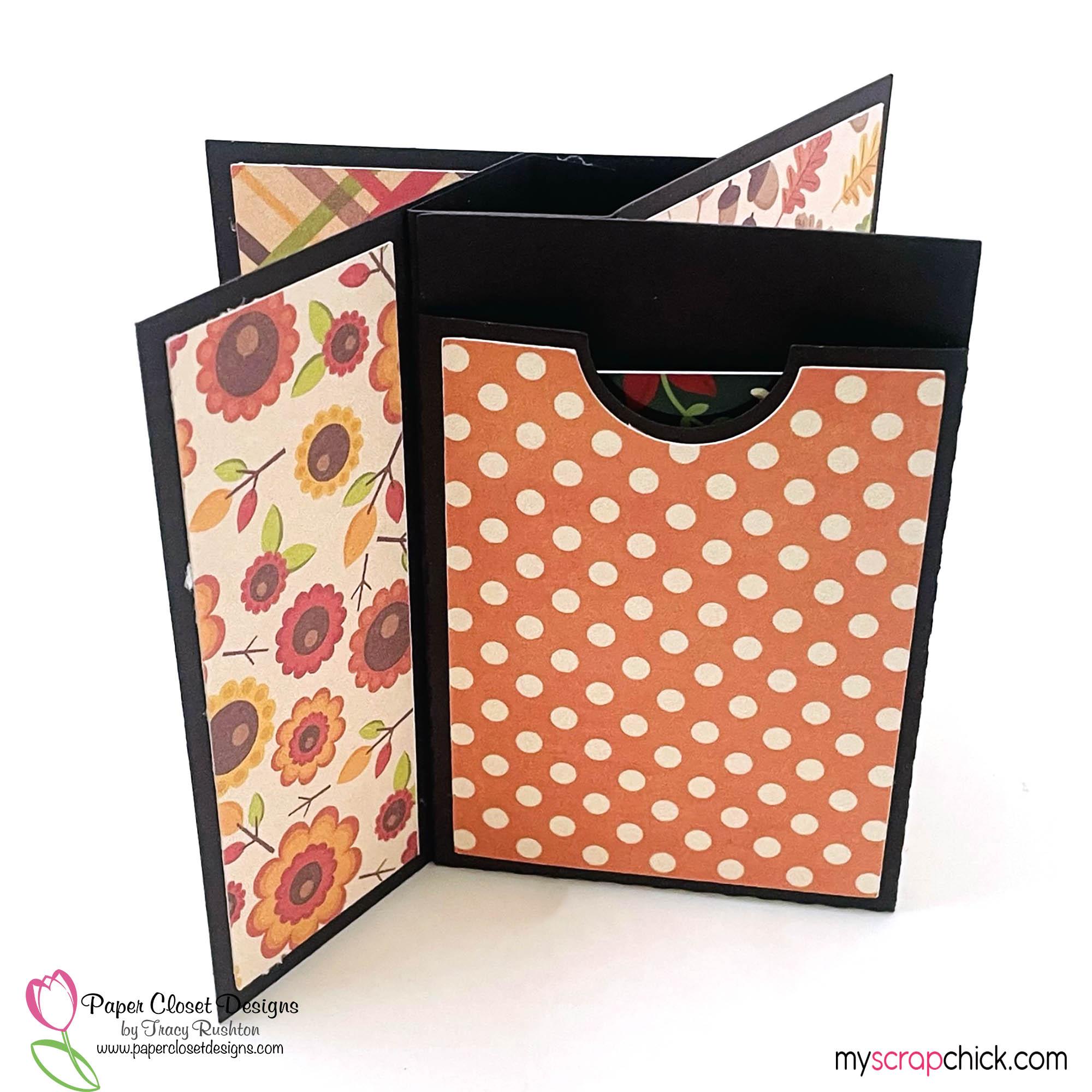 Pumpkin Spice Mug Pinwheel Twist Card Back