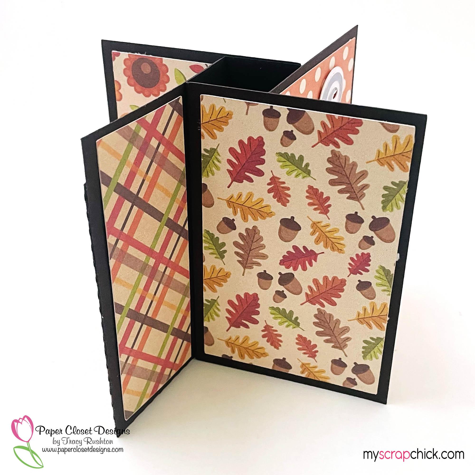 Pumpkin Spice Mug Pinwheel Twist Card Side