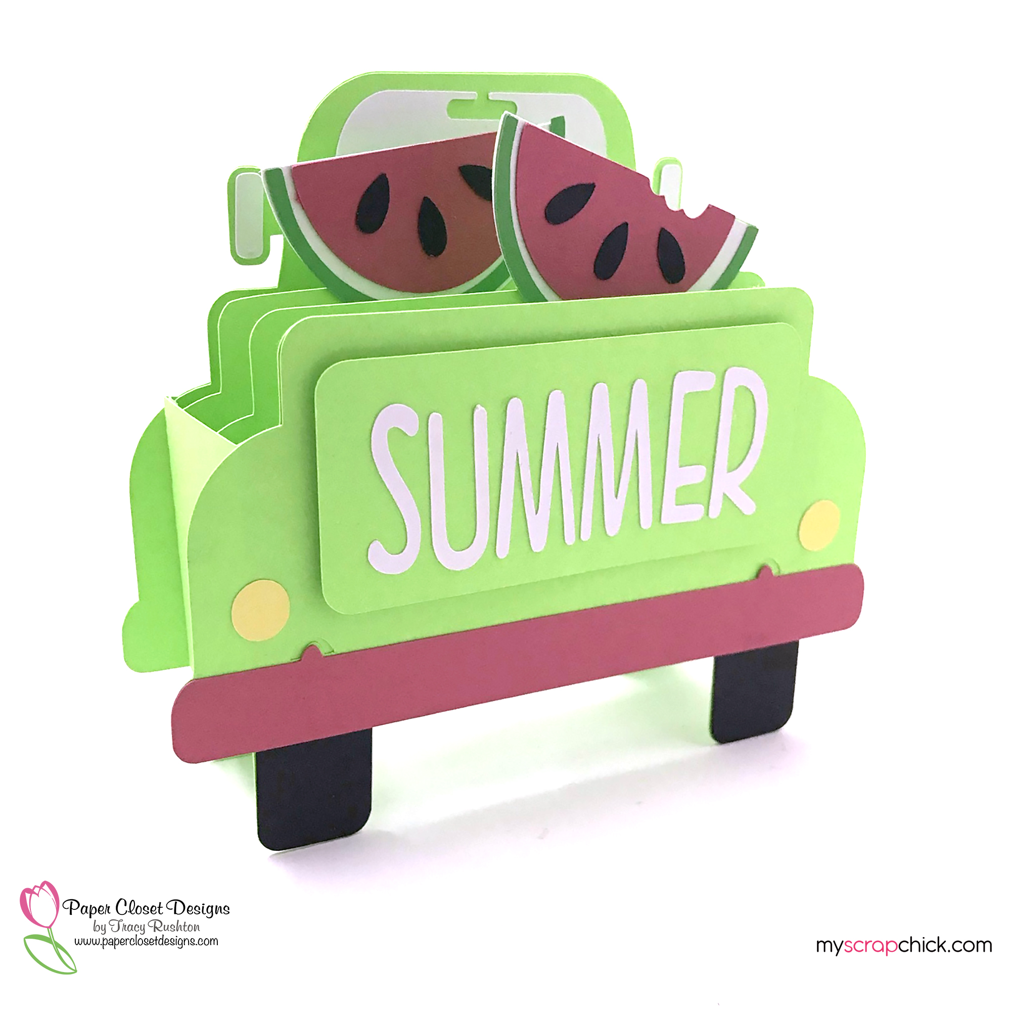 Summer Truck Box Card 2