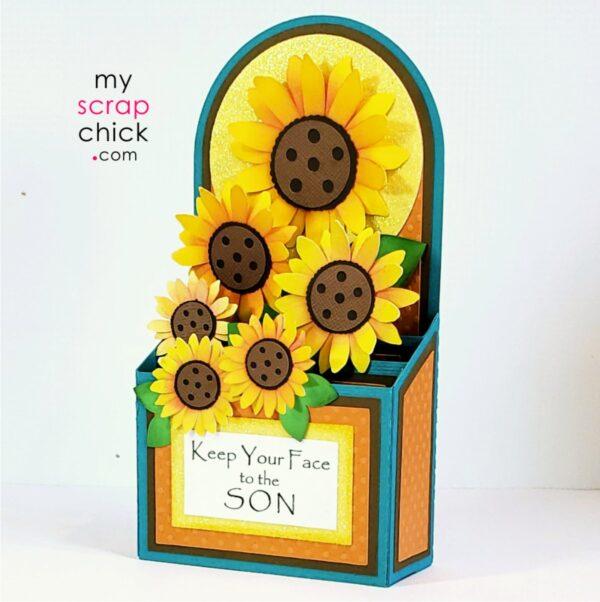 A Sunflower Box Card SVG