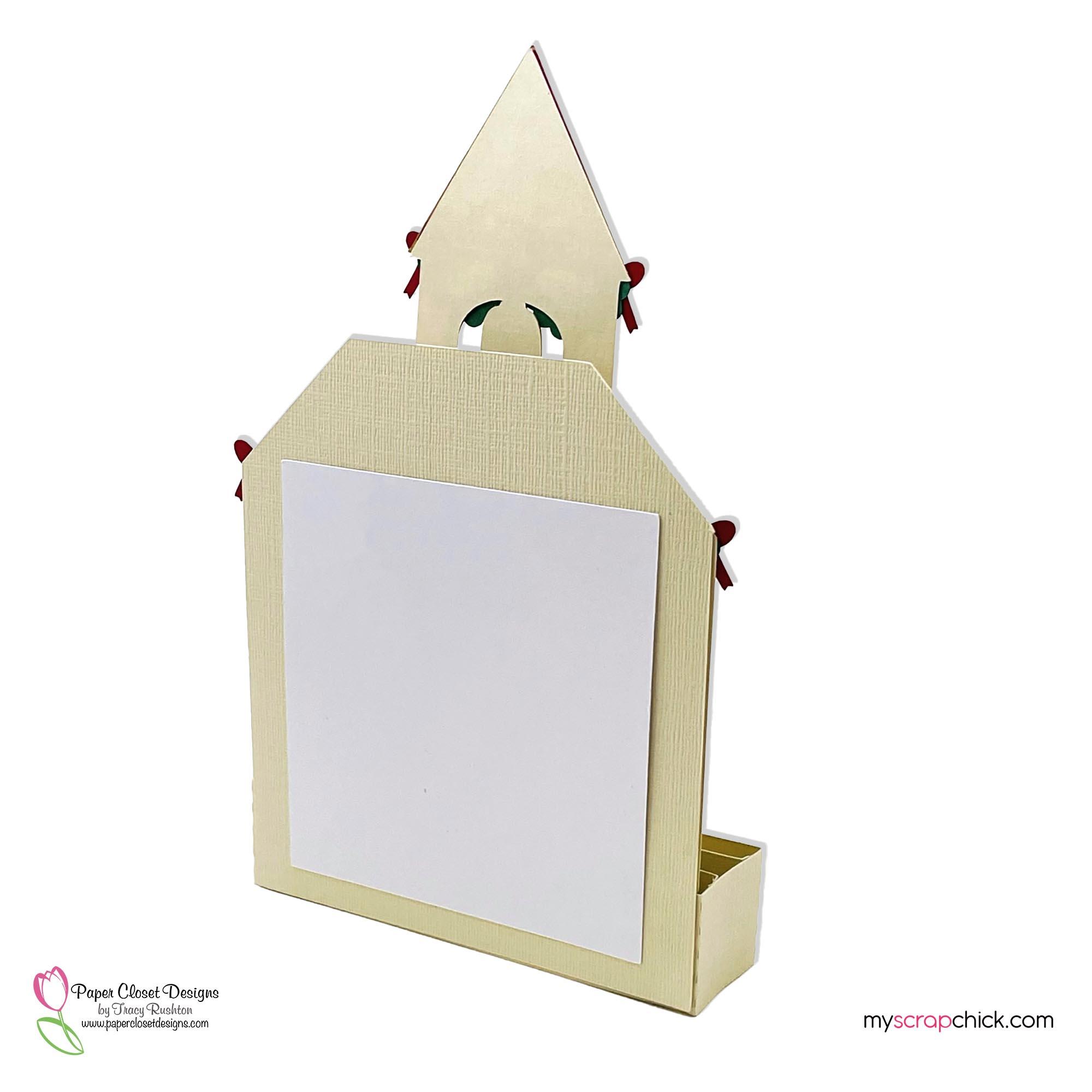 Christmas Church House box Card Back