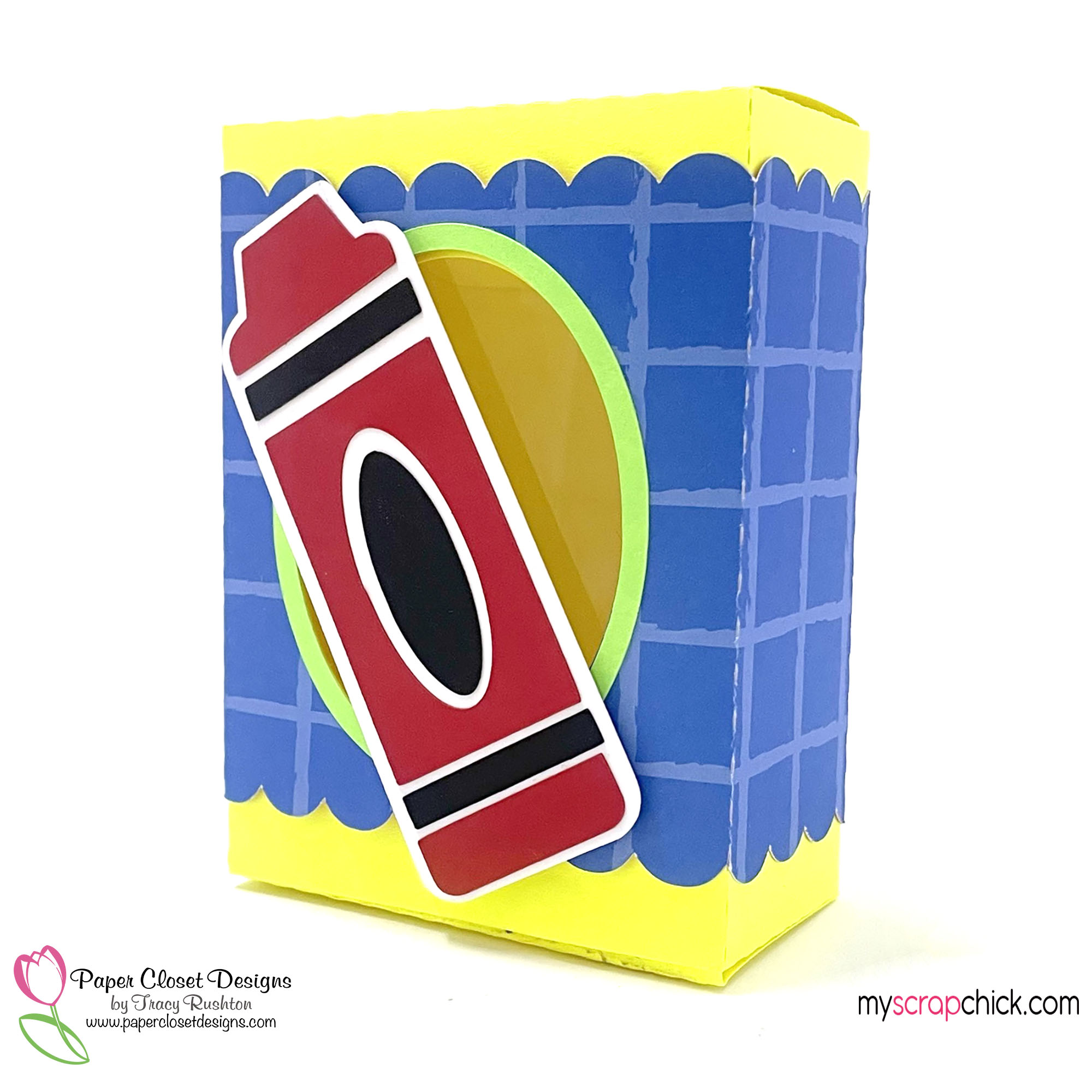 Crayon Box with Belly Band Side