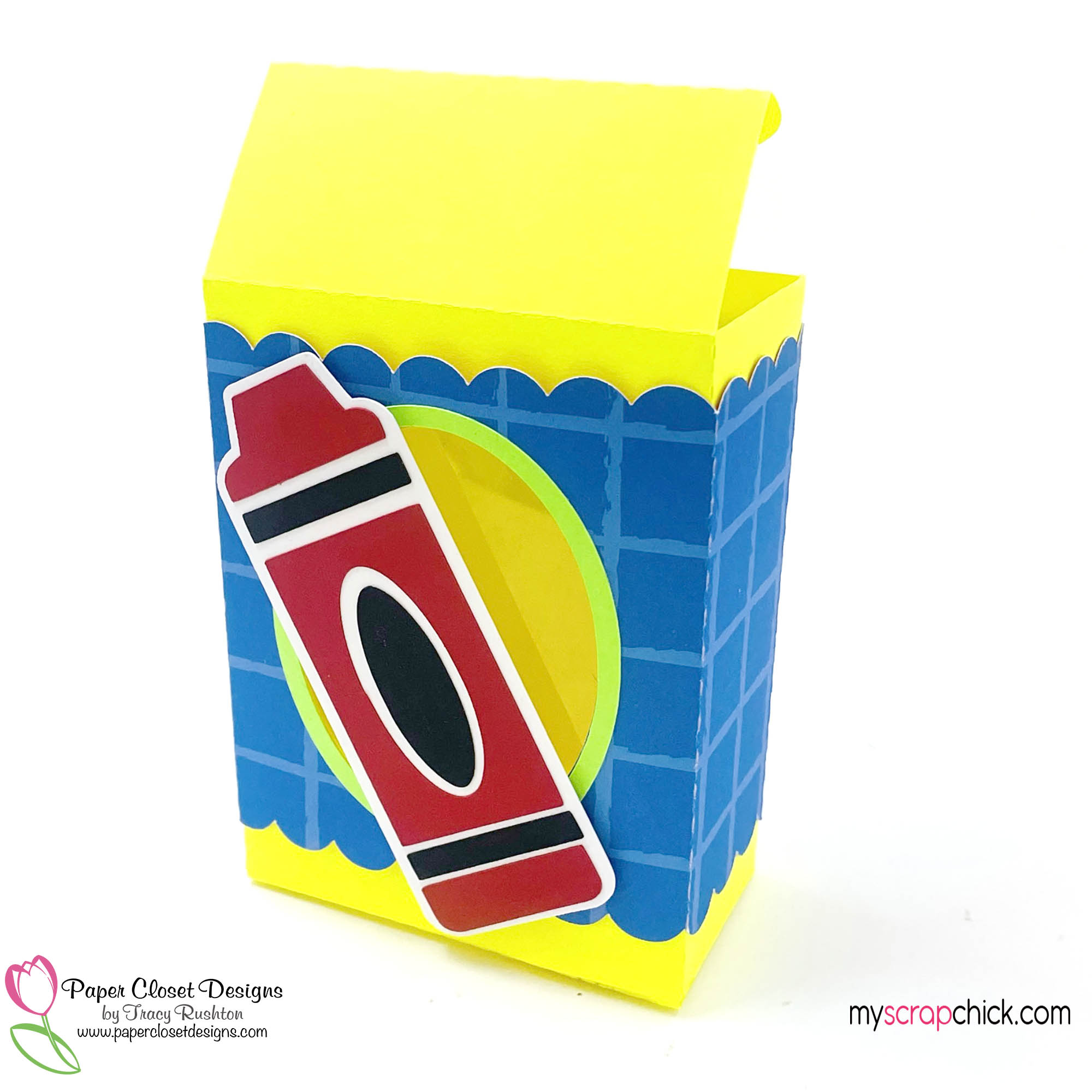 Crayon Box with Belly Band open