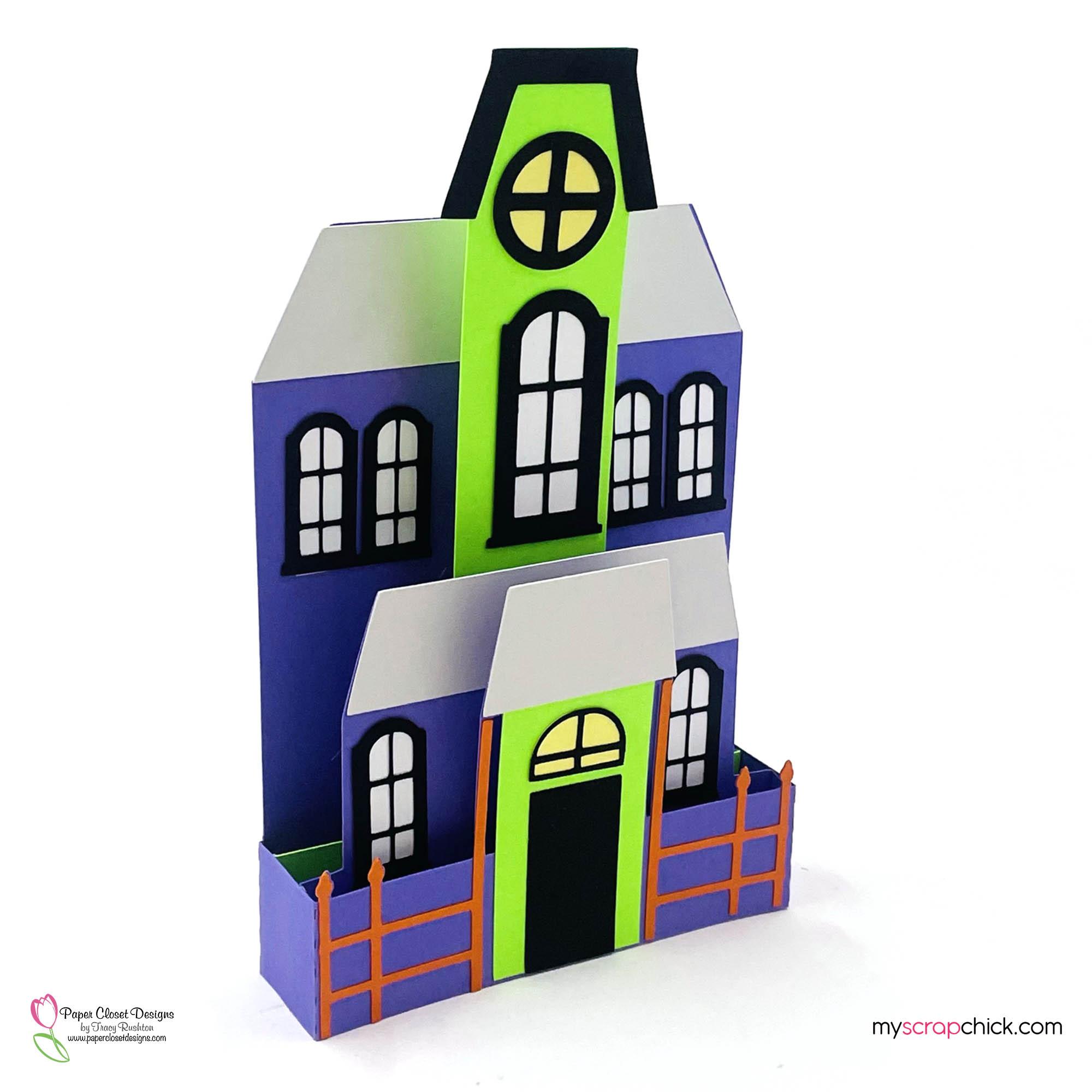 Haunted House Halloween Box Card