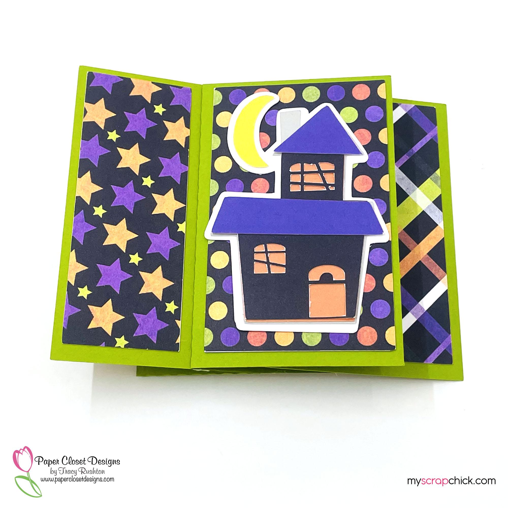 Haunted House Pinwheel Card Flat