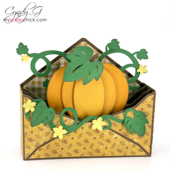 Pumpkin Envelope Box Card for Fall