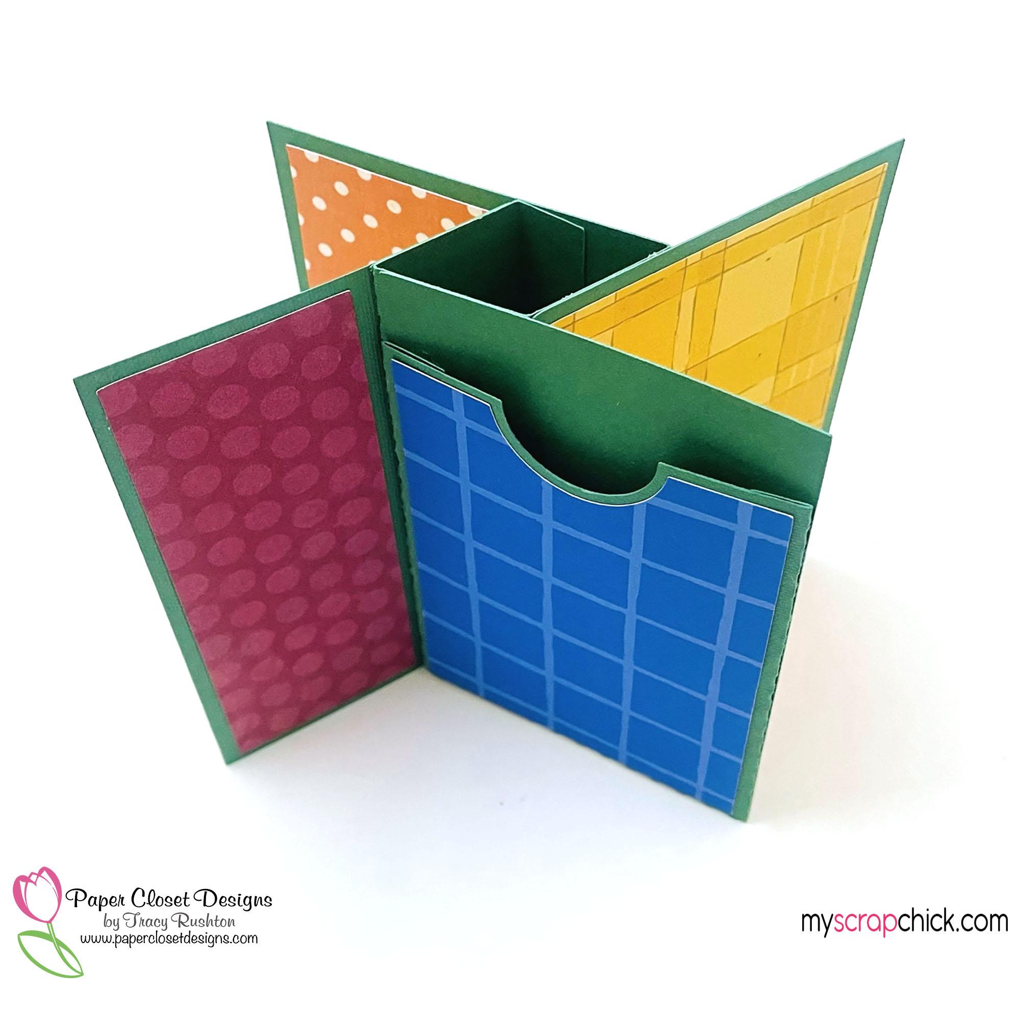 School Pinwheel Twist Card Pocket