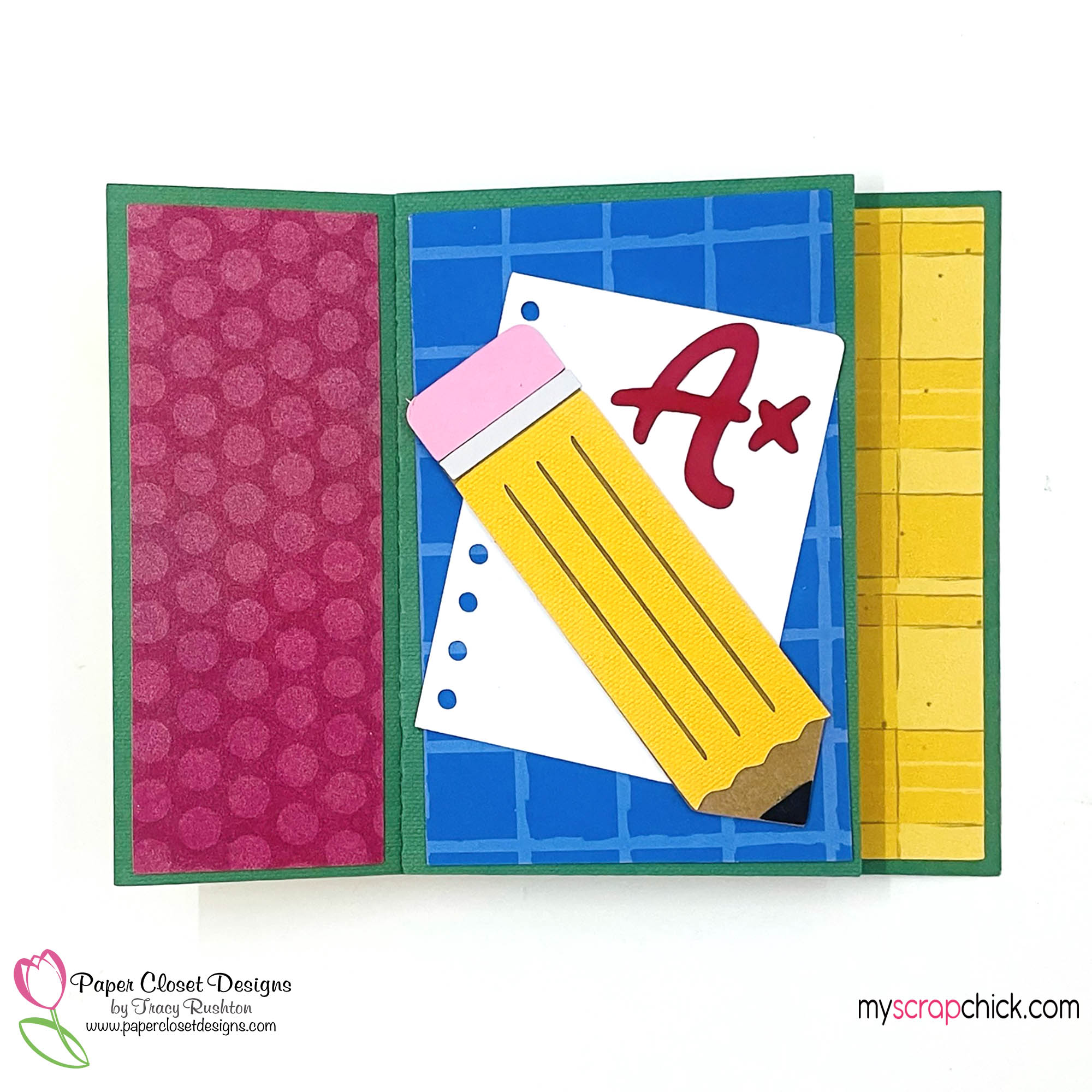 School Pinwheel Twist Card