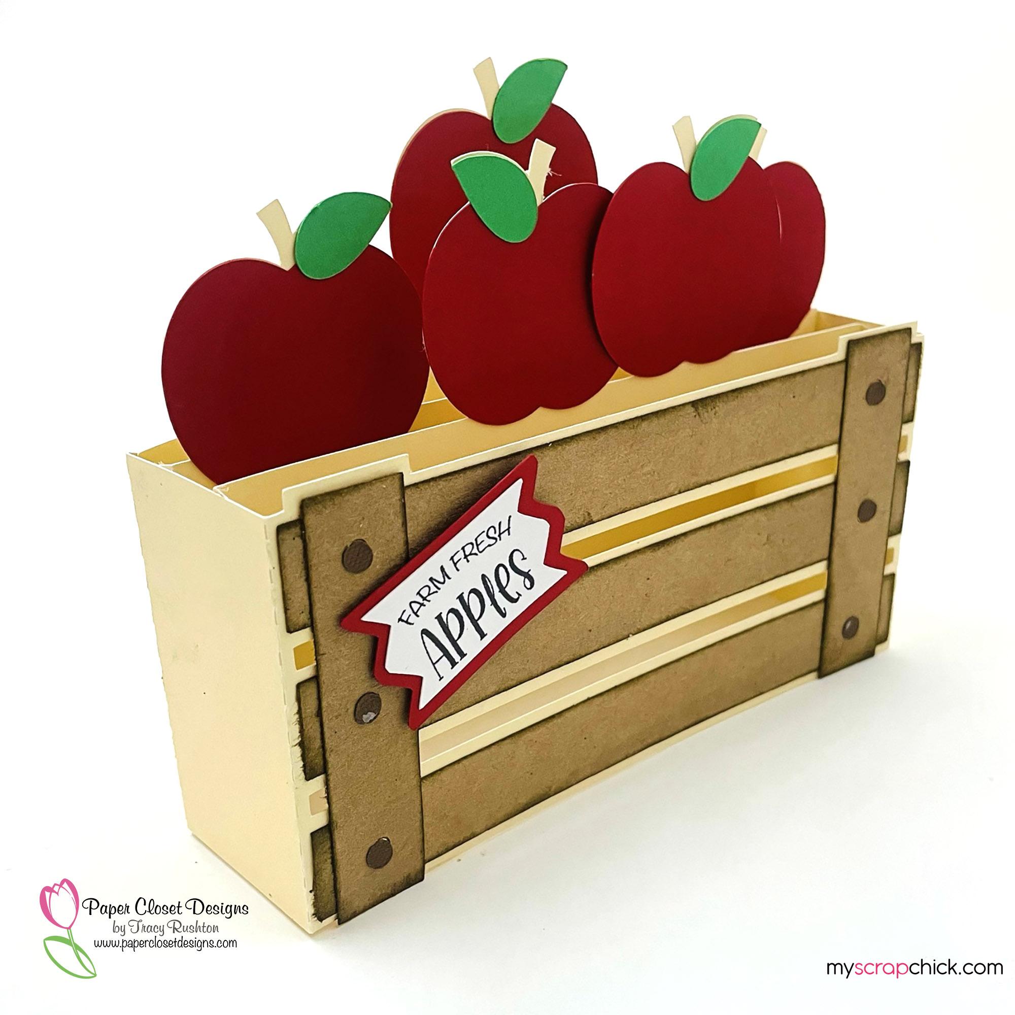 Apple Basket Box Card Side