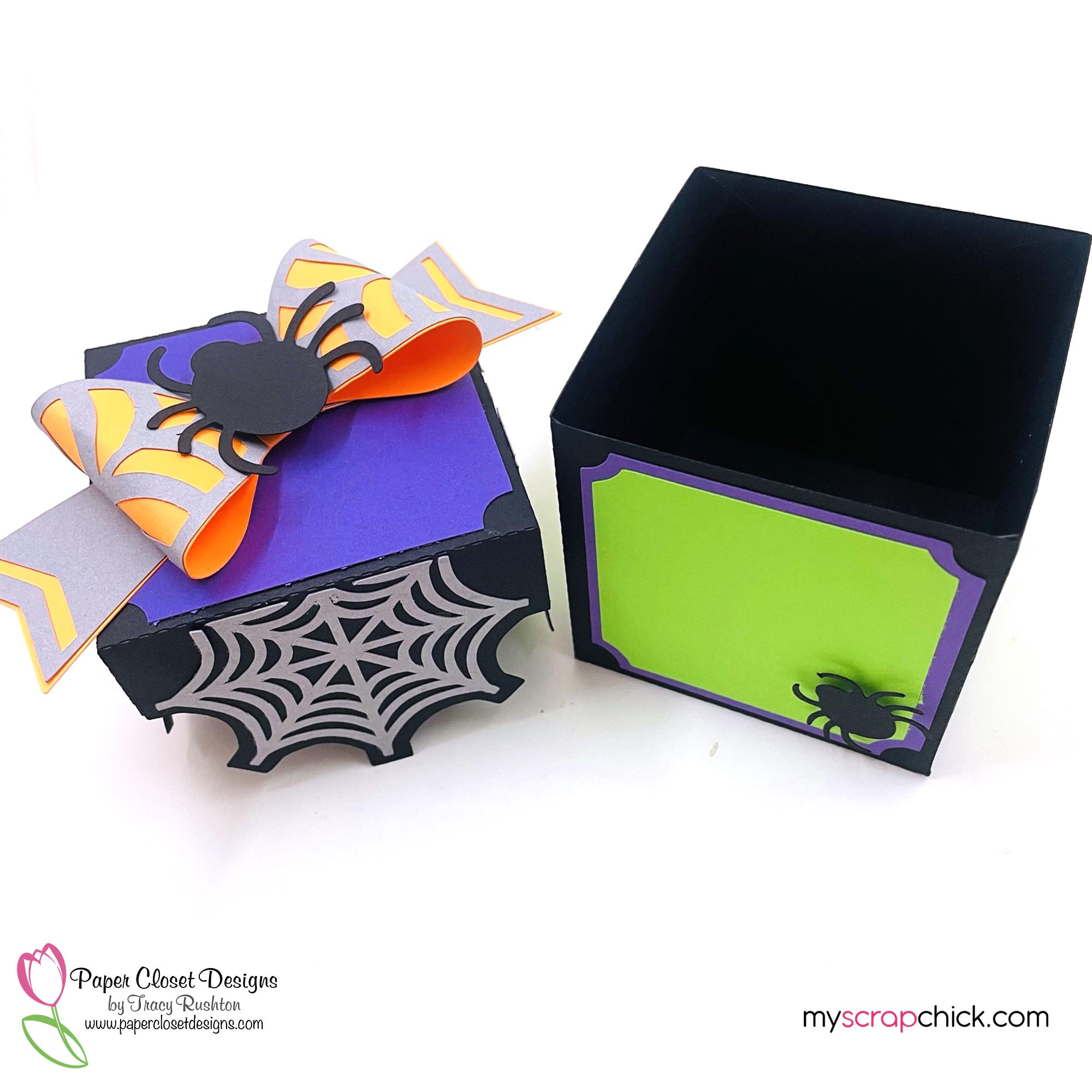 Halloween Box With 3D Bow 2