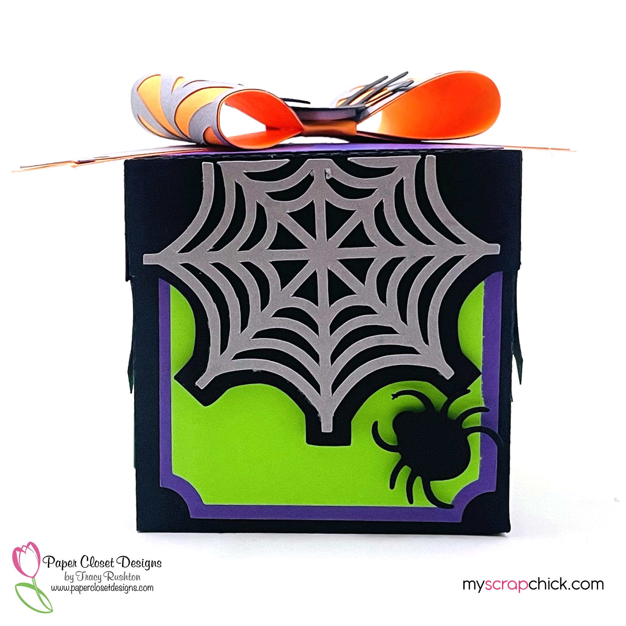 Halloween Box With 3D Bow