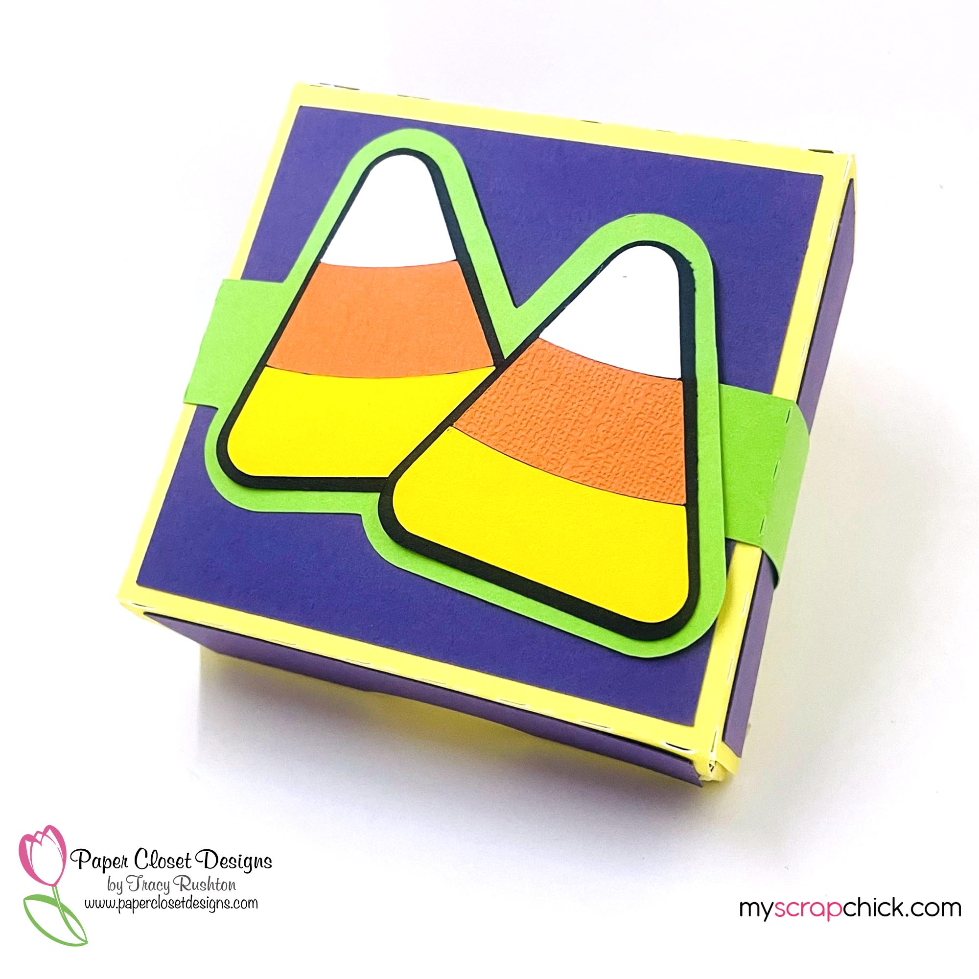 Hinged Box with Candy Corn 1