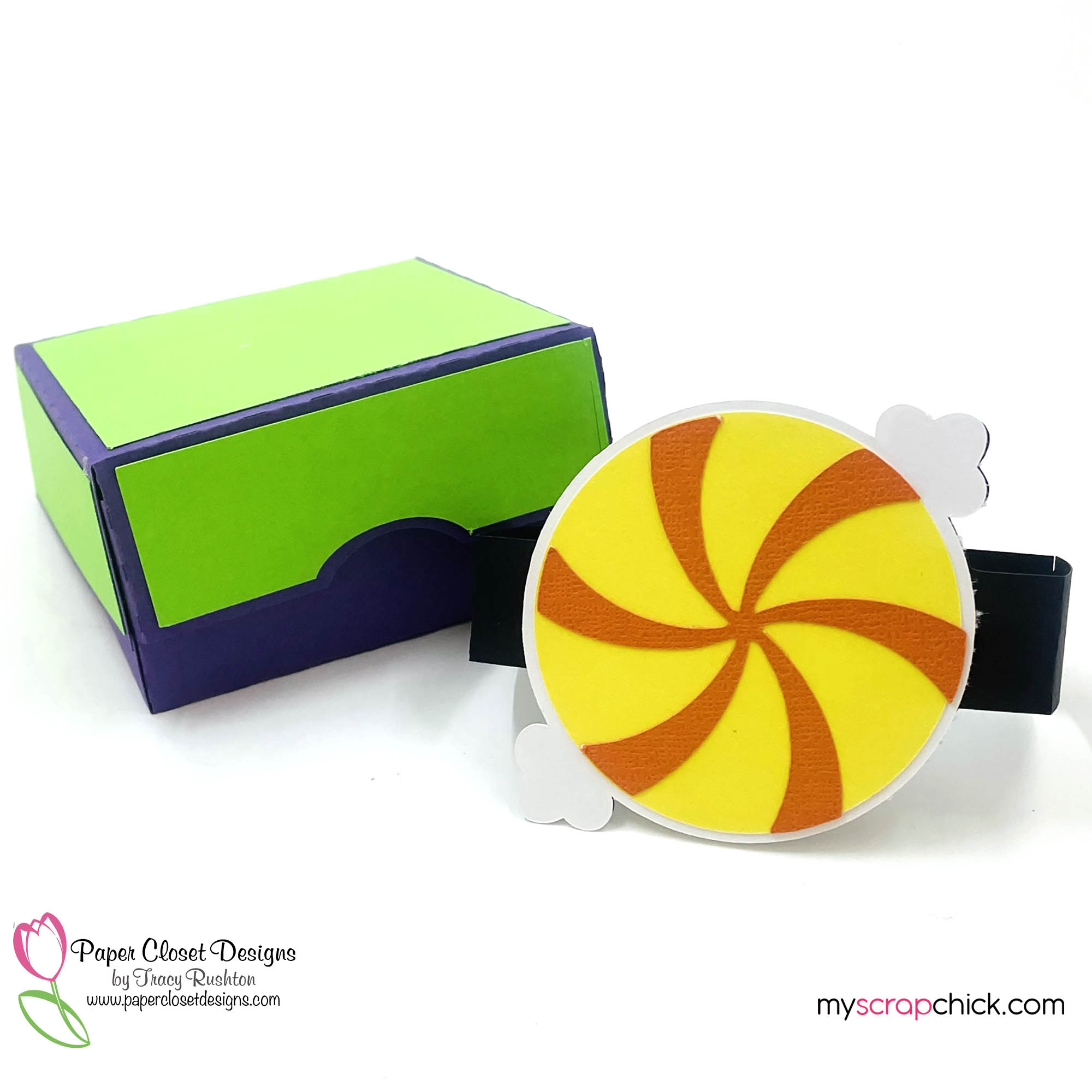 Hinged Box with Halloween Twist Candy Belly Band