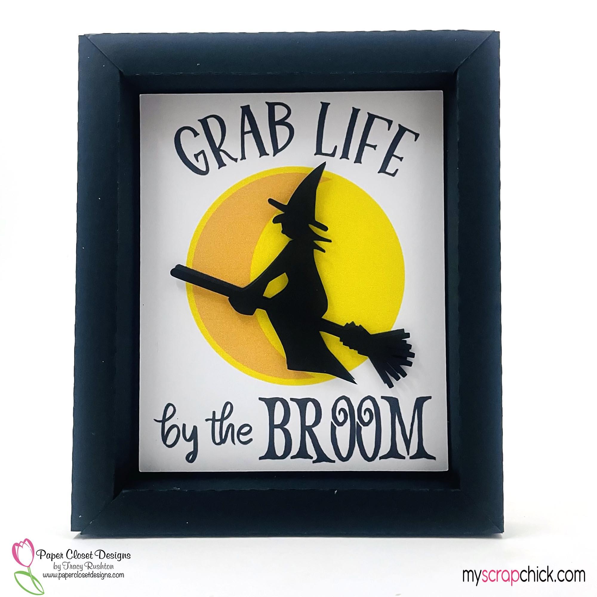 Grab Life by the broom shadow box